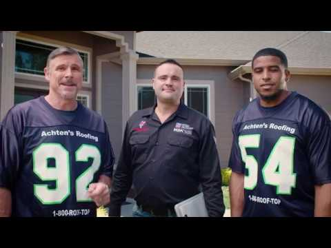 Achten S Roofing Bobby Wagner Dave Wyman Standing Together