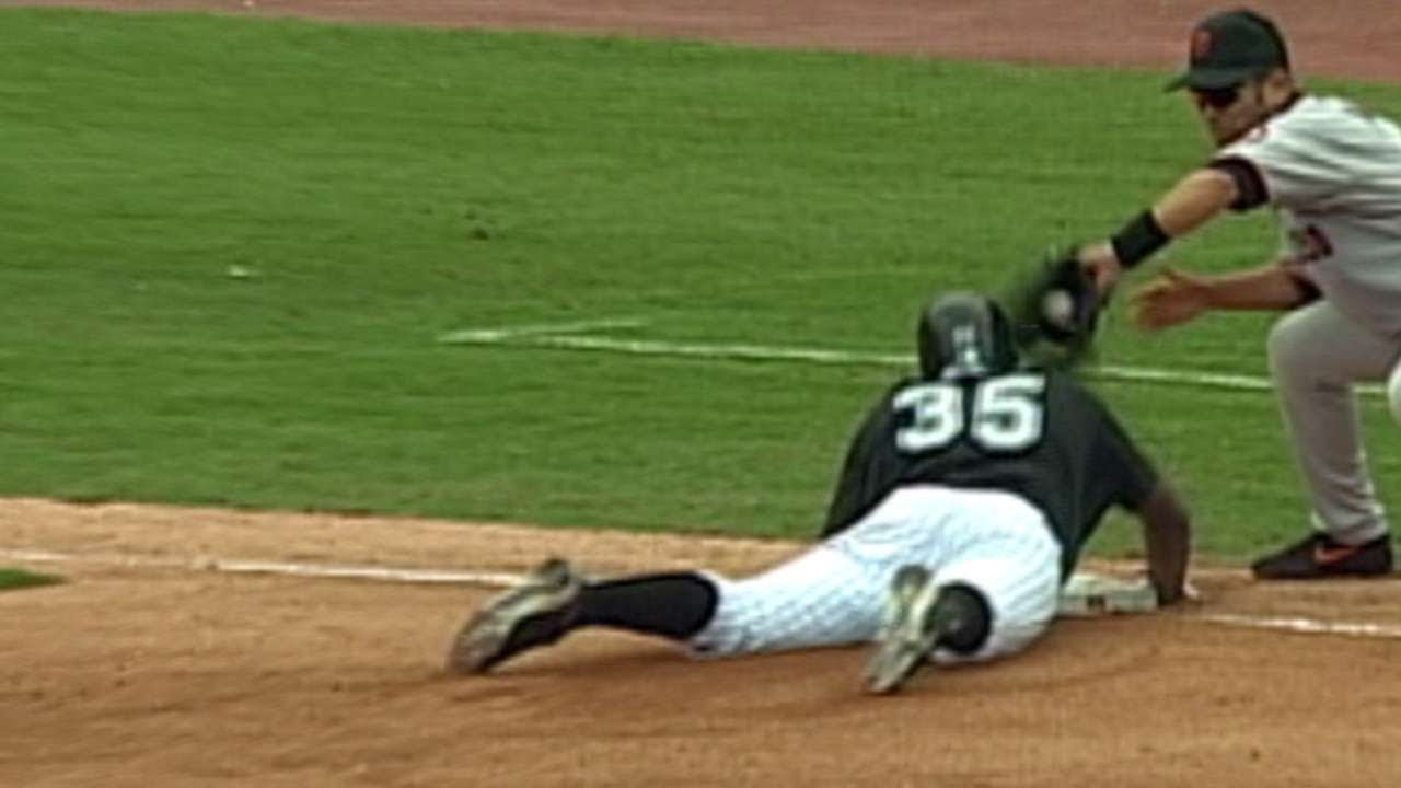 new products fd9fd b789a Dontrelle Willis legs out triple in the 2003 NLDS