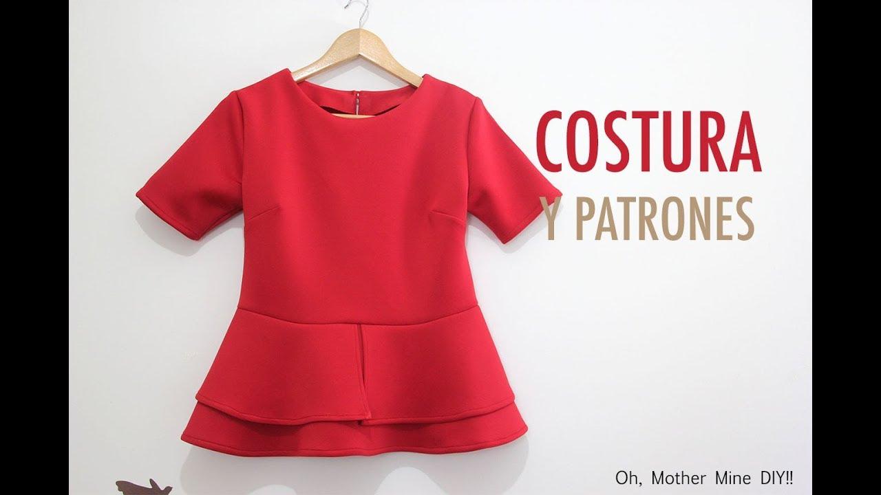 Para Diy Costura Peplum Mujerpatrones Blusa Gratis OkZiXPu