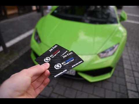 CRBN Carbon Fiber Business Cards by RCFibers