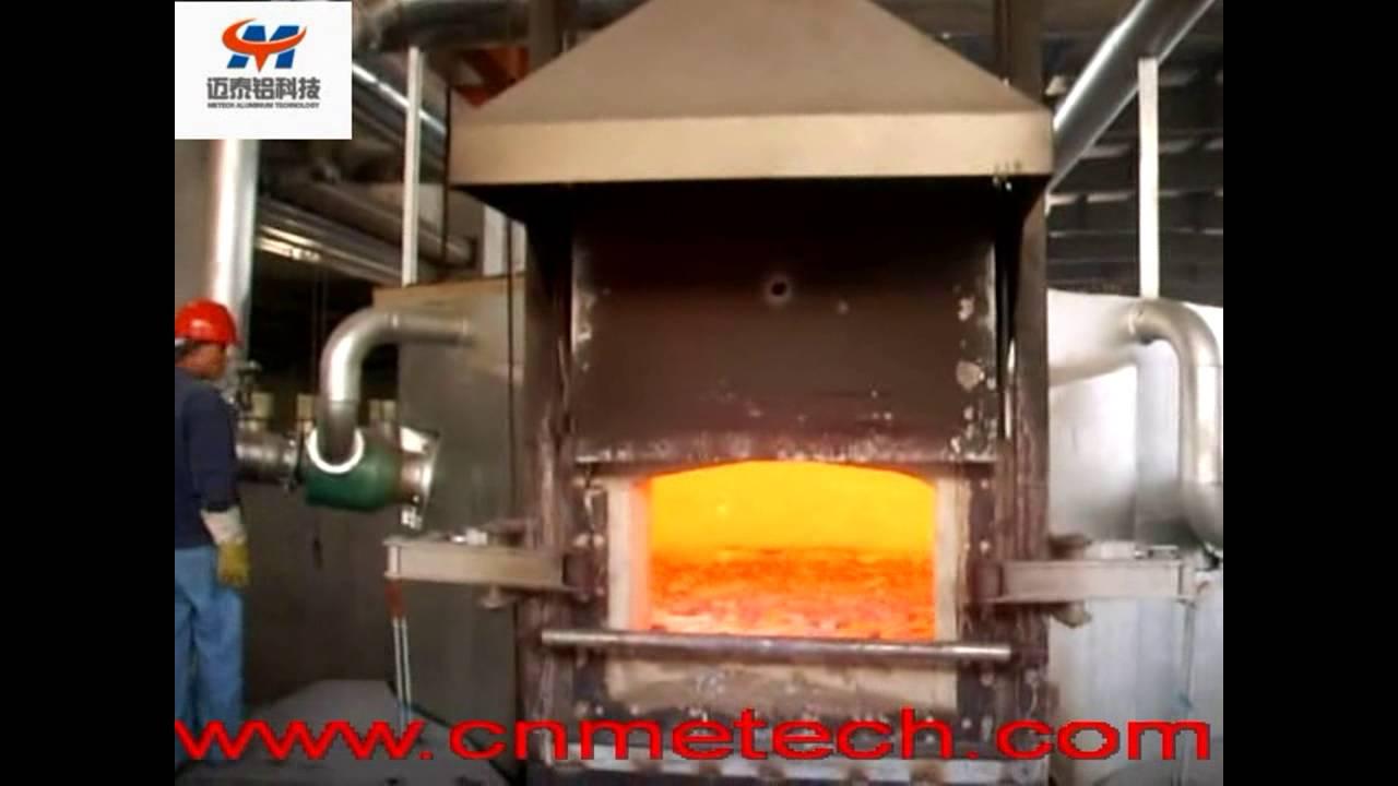 aluminum melting furnace  stationary reverberatory round