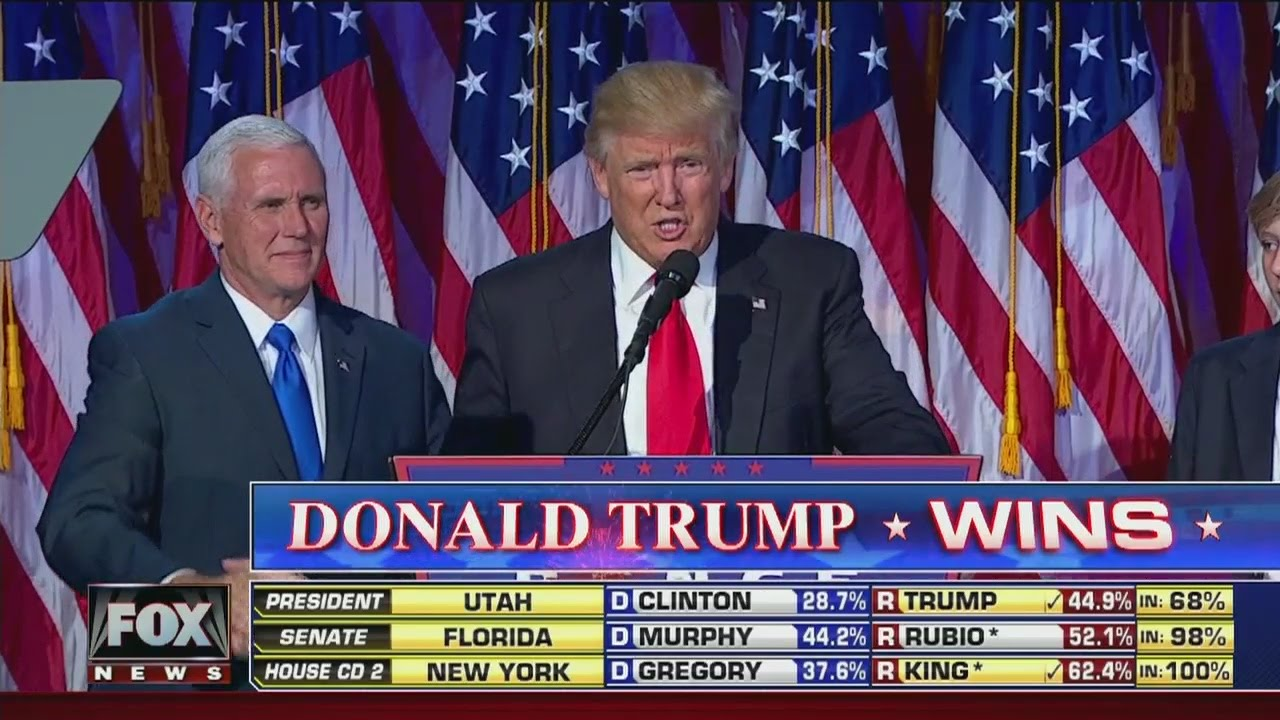 Speech: Donald Trump wins 2016 presidential election - YouTube