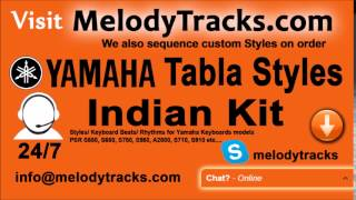 Chalte Chalte mere ye geet   Yamaha Tabla Styles   Indian Kit    PSR S550, S650, S750, S950, A2000,