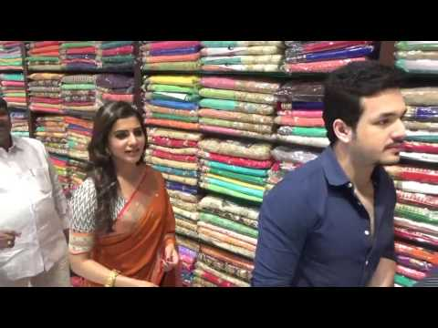 Akhil & Samantha At South Indian Shopping Mall Opening | Somajiguda | Hyderabad | TopPublicMedia