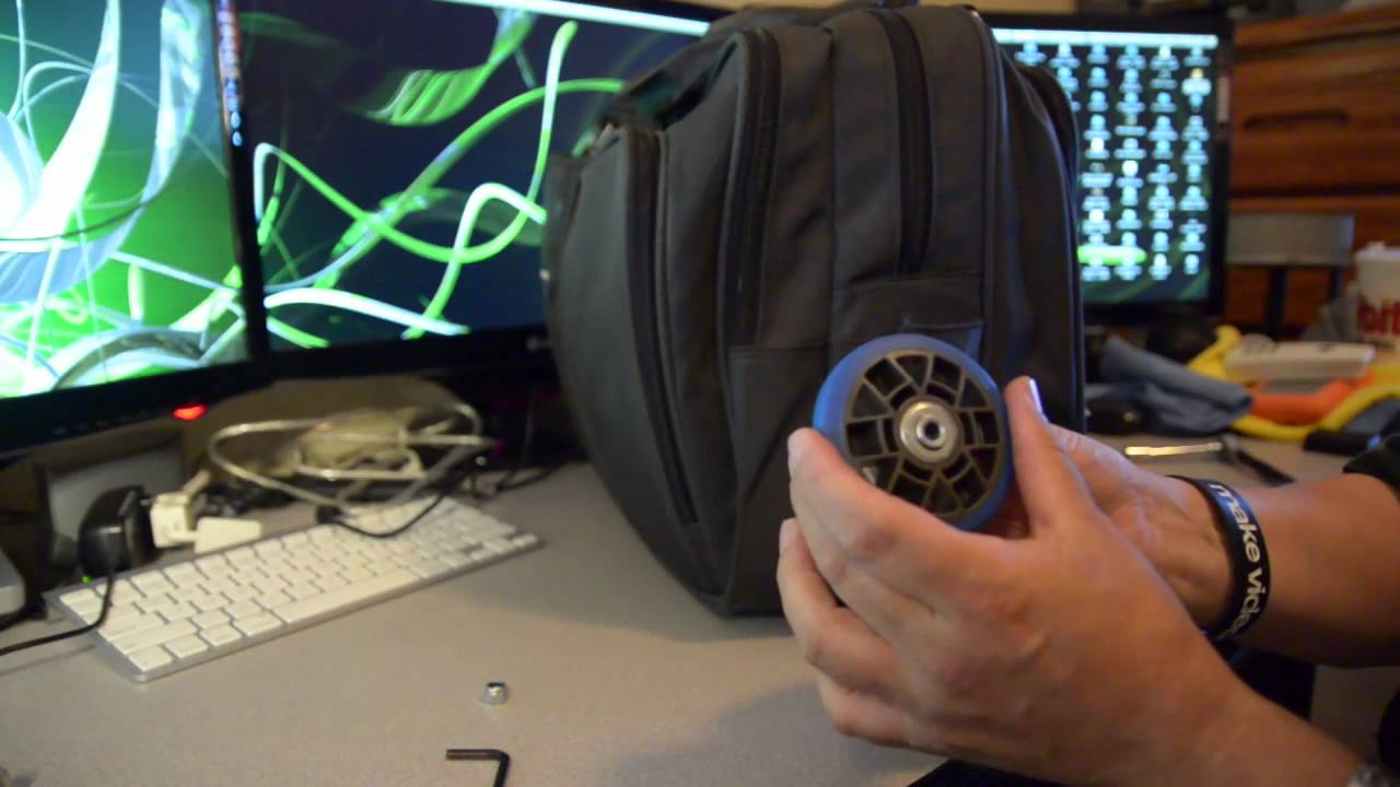 Diy Laptop Bag Wheels Falling Apart Replace The Wheels