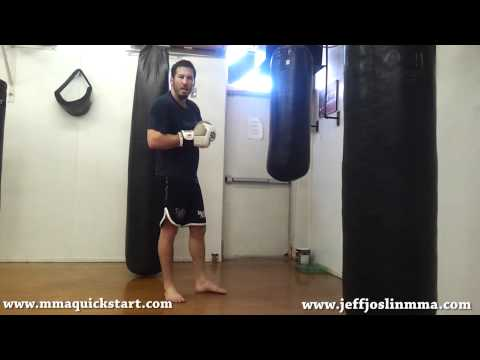 Boxing/Muay Thai/MMA Heavy Bag Technique/Concept - Stopping the Swing w/ the Cross