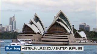 Australia Lures Solar Battery Suppliers