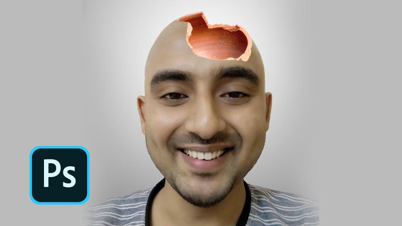 Bald and Braincrupt Photoshop Fun | Photo Manipulation : Photoshop Tutorial