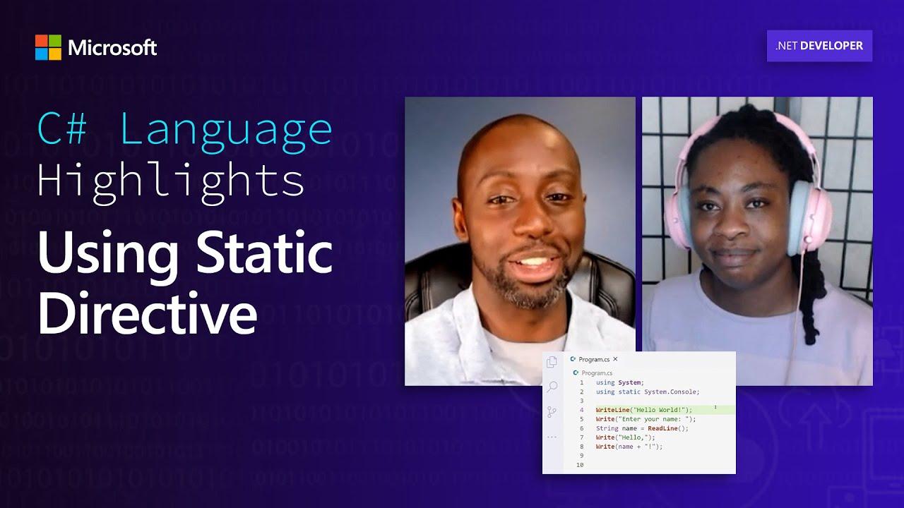 C# Language Highlights: Using Static Directive