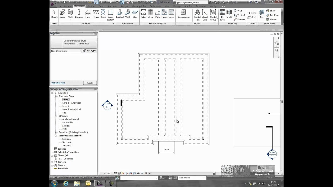 revit structure 2013 slab edge tutorial youtube