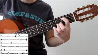 Разбор несложного блюза на гитаре | Видеоурок на гитаре | Blues на гитаре