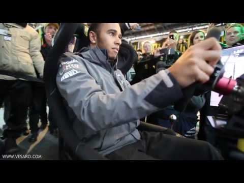 Lewis Hamilton V Ali A - Head to Head on Vesaro Racing simulators