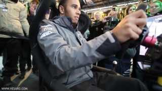 Lewis Hamilton V Ali A - Head to Head on Vesaro Racing simulators