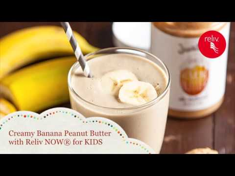 Creamy Banana Peanut Butter with Reliv NOW® for KIDS