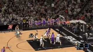 LOS ANGELES LAKERS AT SAN ANTONIO SPURS 04.16.14 (NBA2K14)