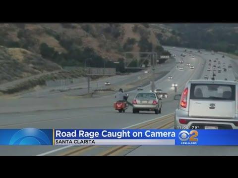 Kick From Motorcycle Rider Kicks Off Chain-Reaction Crash