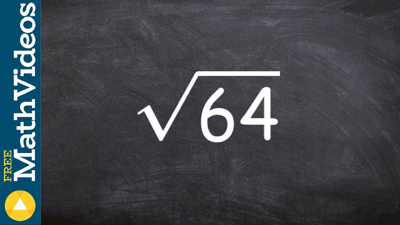 Evaluate The Square Root Of A Perfect Square Number Ex 5 Root 64 Youtube