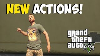 "GTA 5 Online: NEW ""Character Actions"" Air Guitar, Wave, DJ, & MORE! ""Hipster DLC"" Patch Update 1.14"