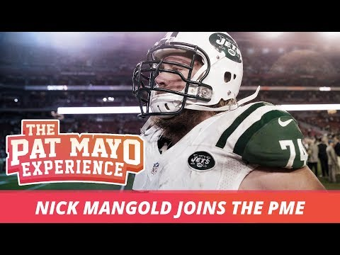 Nick Mangold talks chicken wings with Pat.