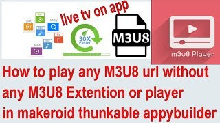 How to play any m3u8 url without any m3u8 extention or player in