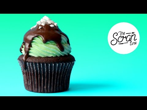 Mint chocolate chip cupcakes from scratch