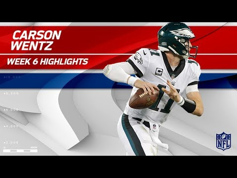Carson Wentz's Triple TD Night vs. Carolina! | Eagles vs. Panthers | Wk 6 Player Highlights