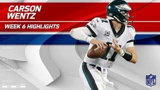 Carson Wentz's Triple TD Night vs. Carolina! | Eagles vs. Panthers | Wk 6 Player Highlights
