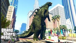 Can Godzilla Destroy Los Santos!? (GTA 5 Mods)