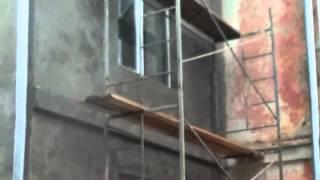 Смотреть видео ремонт фасада здания