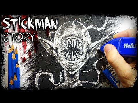 """Stickman"" Horror STORY - Creepypasta + Drawing"