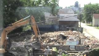 Old Parish House Demolition Time Lapse