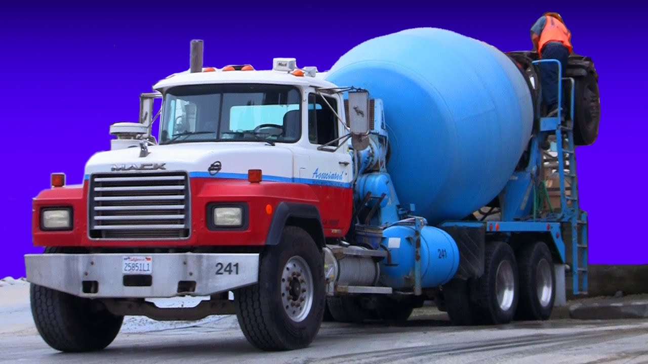 Concrete Trucks Loading and Pouring Cement - YouTube