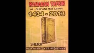 16 RAMADAN TAFSIR 1434/2013 (JIMETA) - SHEIKH KABIR HARUNA GOMBE