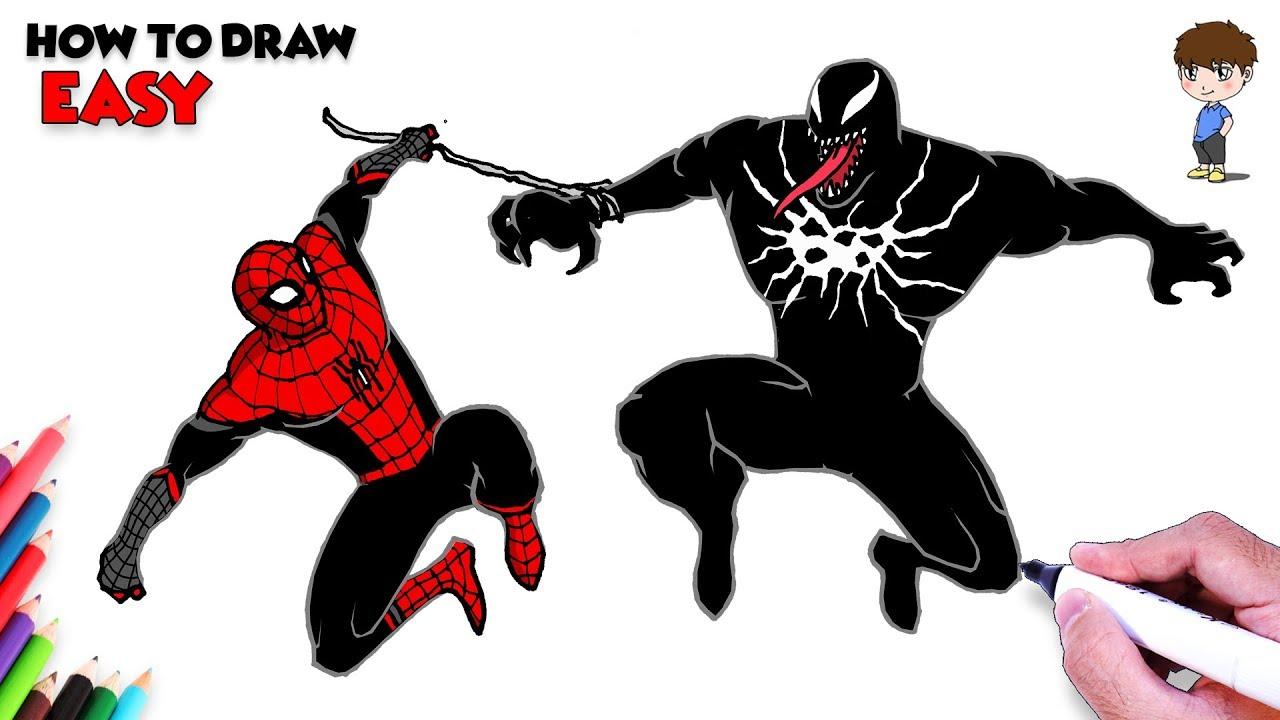 Spiderman Vs Venom Drawing