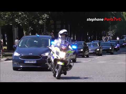 Israeli Prime Minister convoy in Paris ( Benjamin Netanyahu)