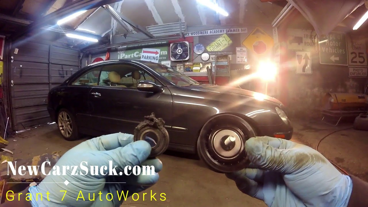 How to replace an idler pulley & serpentine belt on a Mercedes & Best  Birthday Gift EVER!!!