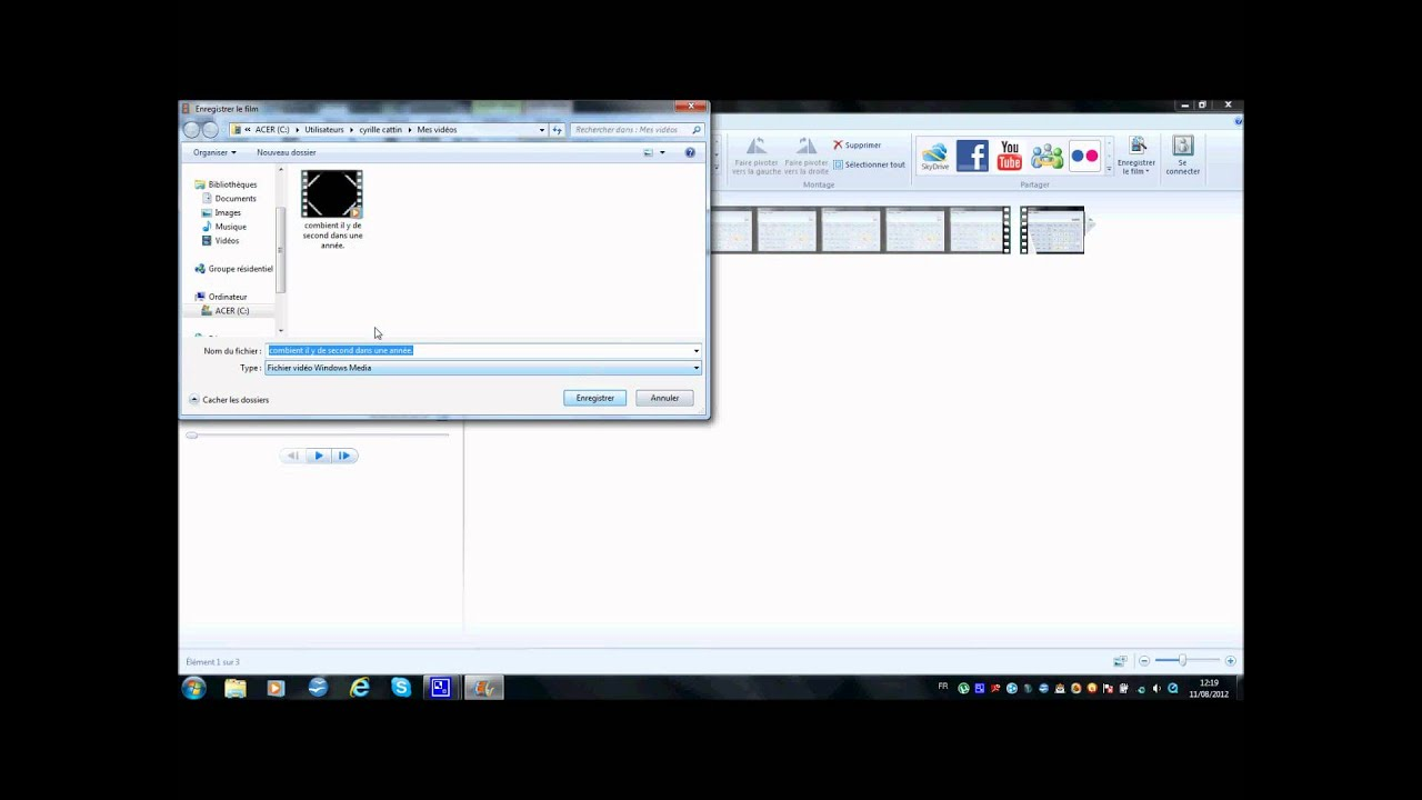 comment mettre une video de windows movie maker sur