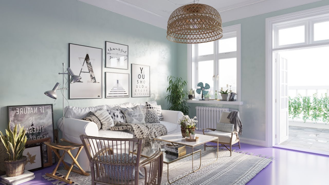 Architectural Visualizations: Nice Living Room 026 renderings using ...