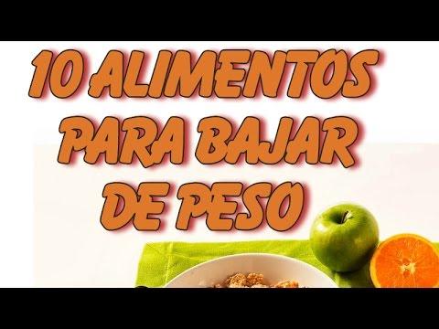 10 Alimentos Para Bajar De Peso - YouTube