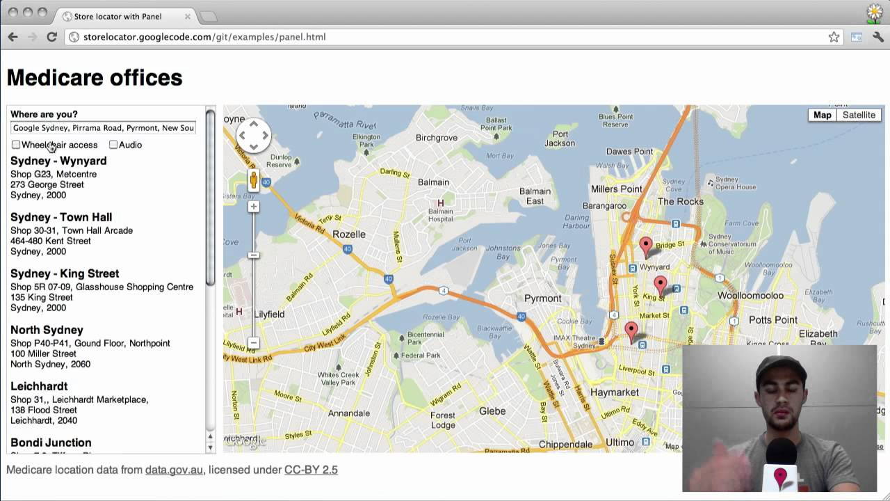 google map api how to get search bar