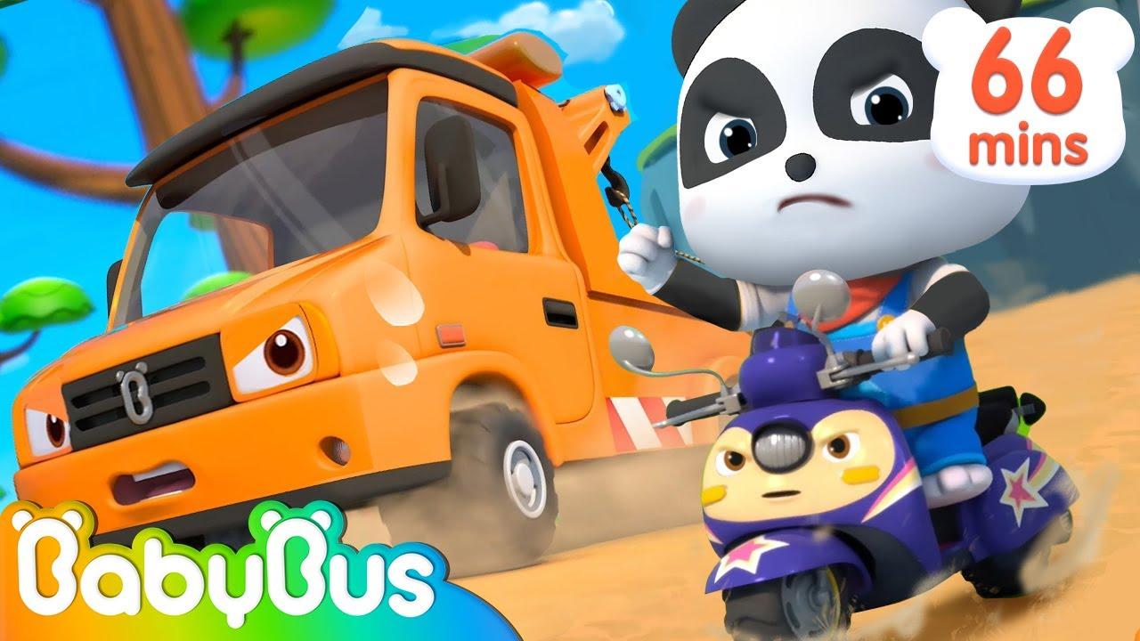 Construction Vehicles  Song -Tow Truck, Crane Truck | Police Car, Fireman | Nursery Rhymes | BabyBus