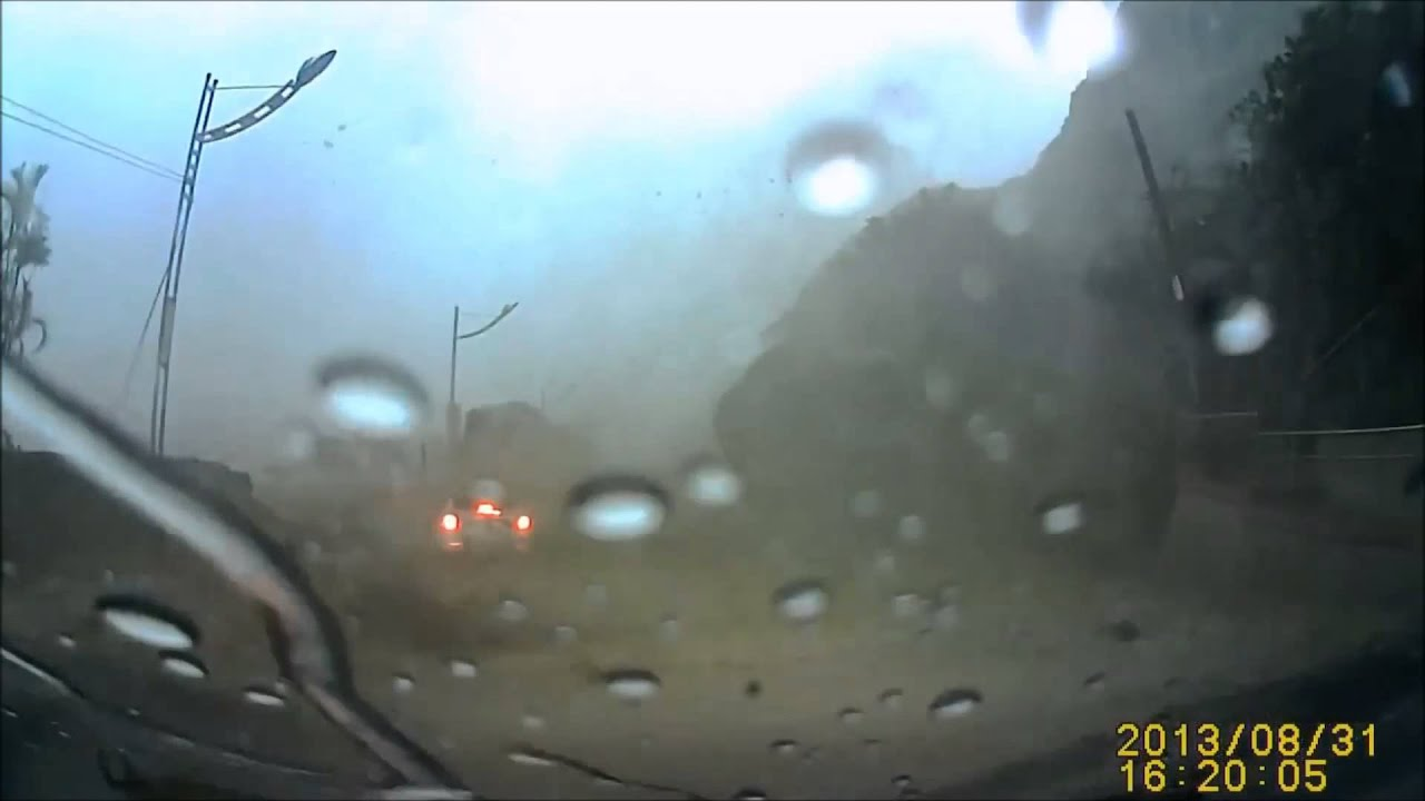 Giant Rock Hits And Almost Crushes Car Extremely Lucky Car - Huge boulder narrowly missed house in italy