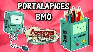 Como hacer un portalapices de BMO - Hora de Aventura / Manualidades para niños