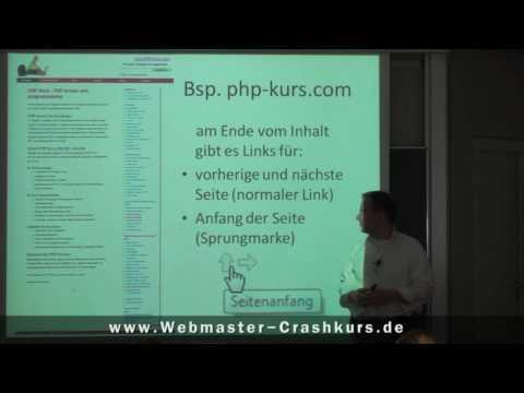 Links Und Sprungmarken - Http://www.webmaster-crashkurs.de