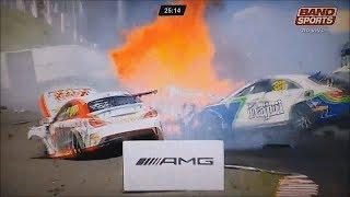 Mercedes-Benz Challenge 2017. Autódromo de Tarumã. Lorenzo Varassin & Fernando Júnior Huge Crash