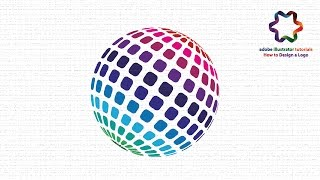 Adobe illustrator - Circle Pixel Logo Design Tutorial Using 3D Revolve Effect in illustrator
