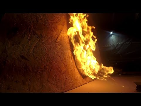Как быстро сгорит дом. Тест OSB, ГВЛ, ГКЛ и фанеры. Чем лучше обшить дом внутри?
