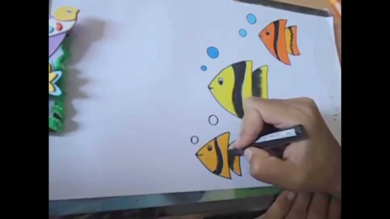 How To Draw Beautiful Fish In Easy Steps Youtube