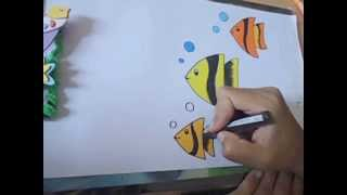 how to draw beautiful fish in easy steps