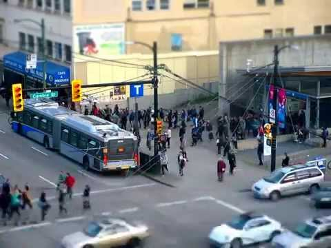99 B-line Broadway and Cambie Timelapse 10x Speed